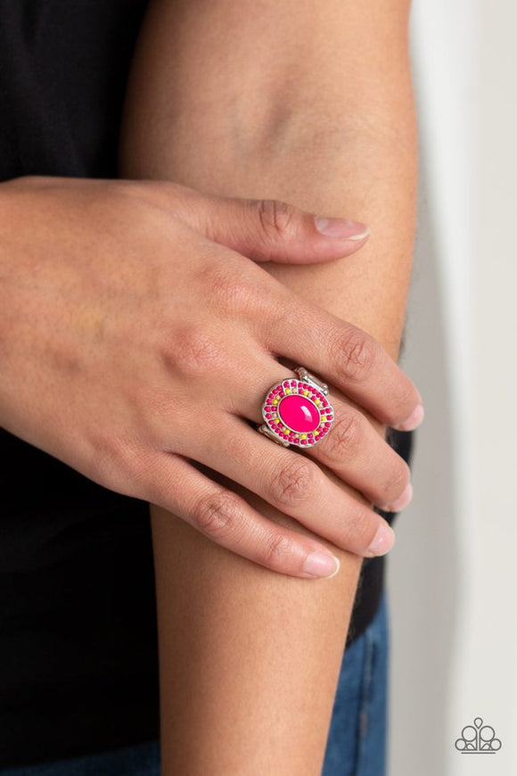 colorfully-rustic-pink-ring-paparazzi-accessories