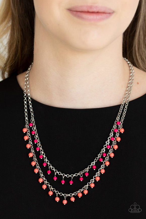 dainty-distraction-orange-necklace-paparazzi-accessories