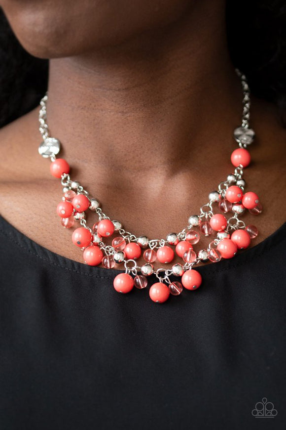 seaside-soiree-orange-necklace-paparazzi-accessories
