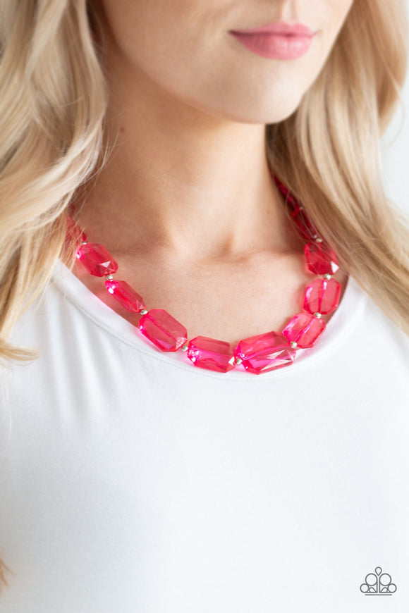 ICE Versa - Pink Necklace - Paparazzi Accessories
