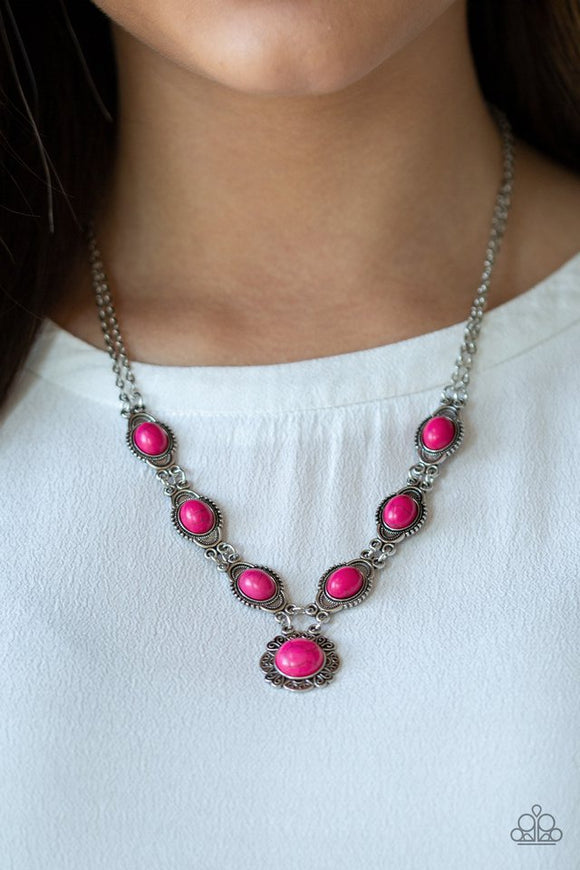 desert-dreamin-pink-necklace-paparazzi-accessories
