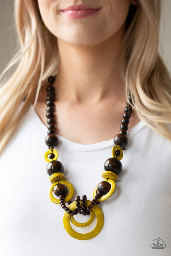 boardwalk-party-yellow-necklace-paparazzi-accessories