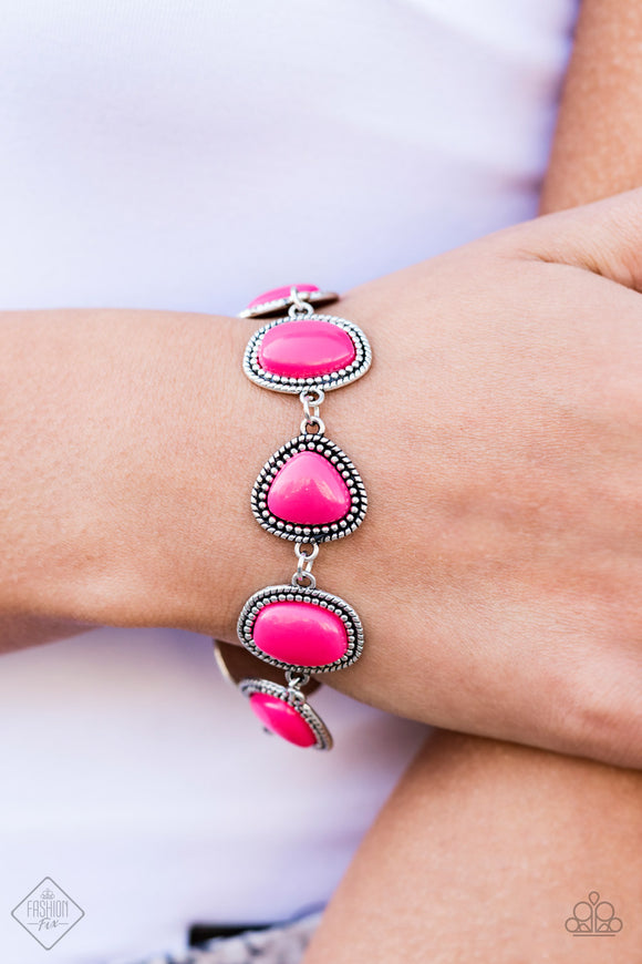 Vividly Vixen - Pink Bracelet - Paparazzi Accessories