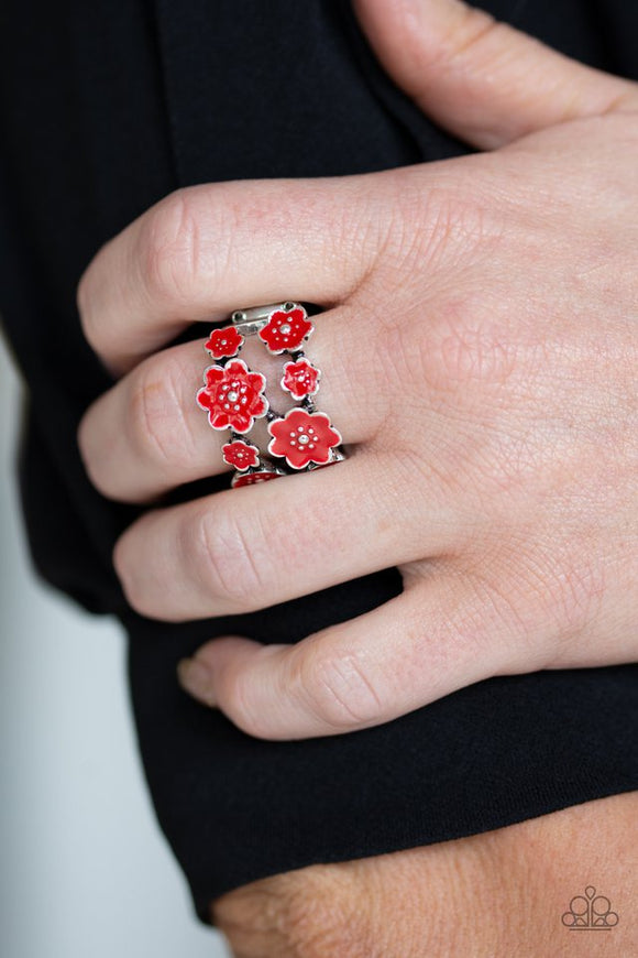 floral-crowns-red-ring-paparazzi-accessories