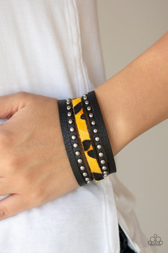 born-to-be-wildcat-yellow-bracelet-paparazzi-accessories