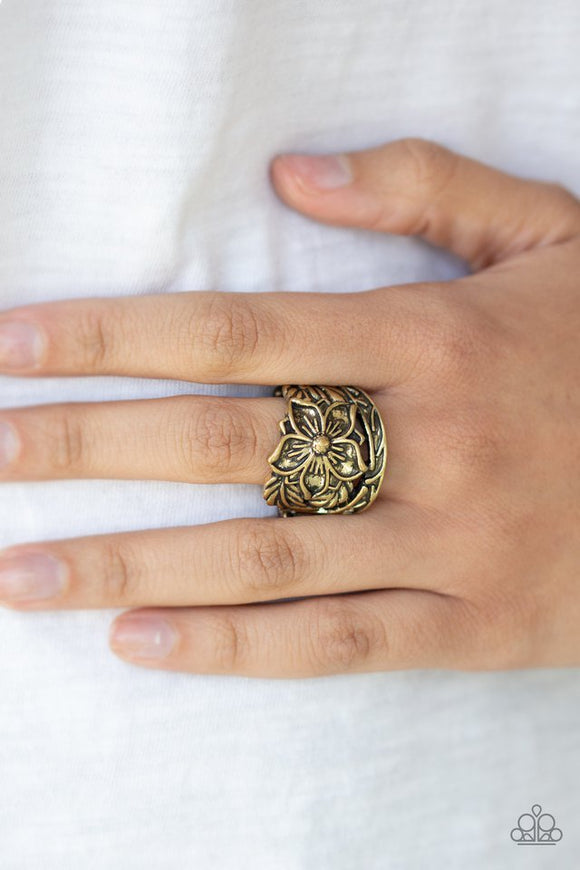 hibiscus-highland-brass-ring-paparazzi-accessories