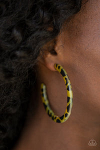 haute-blooded-yellow-earrings-paparazzi-accessories