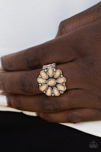 stone-gardenia-brown-ring-paparazzi-accessories