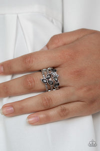 Blink Back TIERS - Silver Ring - Paparazzi Accessories
