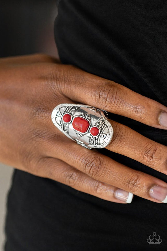 desert-paint-red-ring-paparazzi-accessories