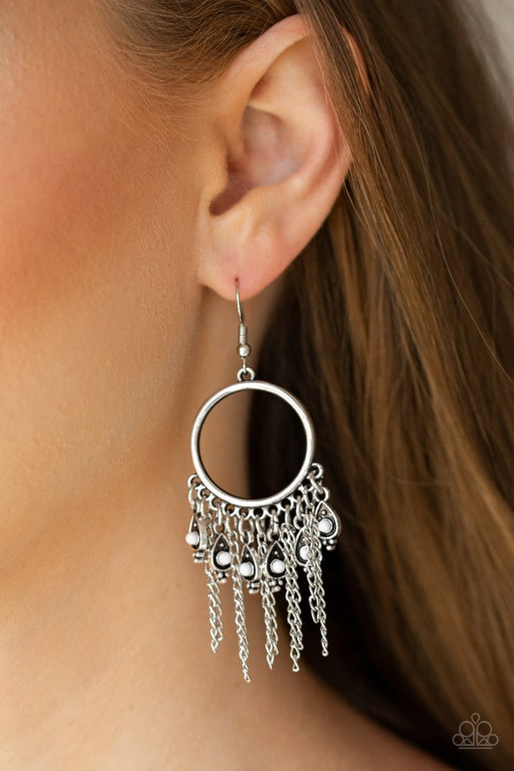 very-vagabond-white-earrings-paparazzi-accessories