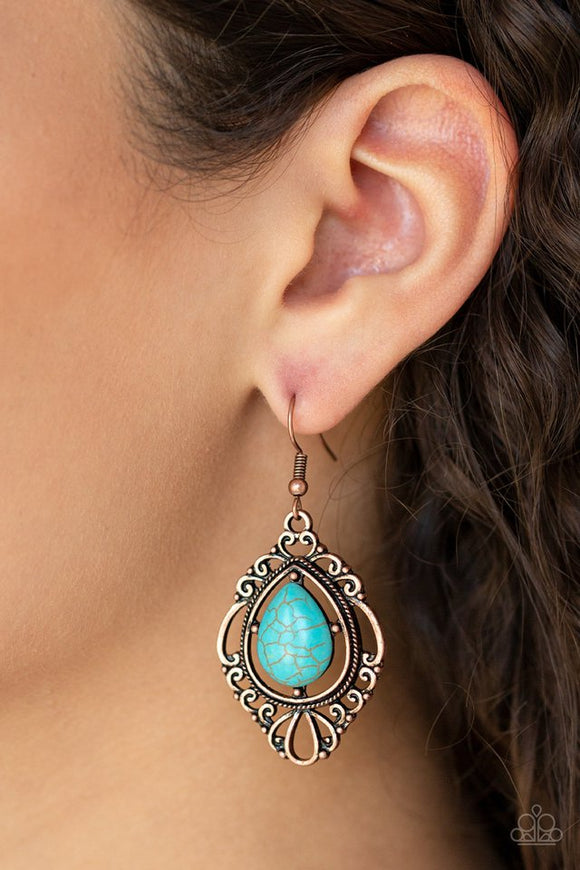 southern-fairytale-copper-earrings-paparazzi-accessories