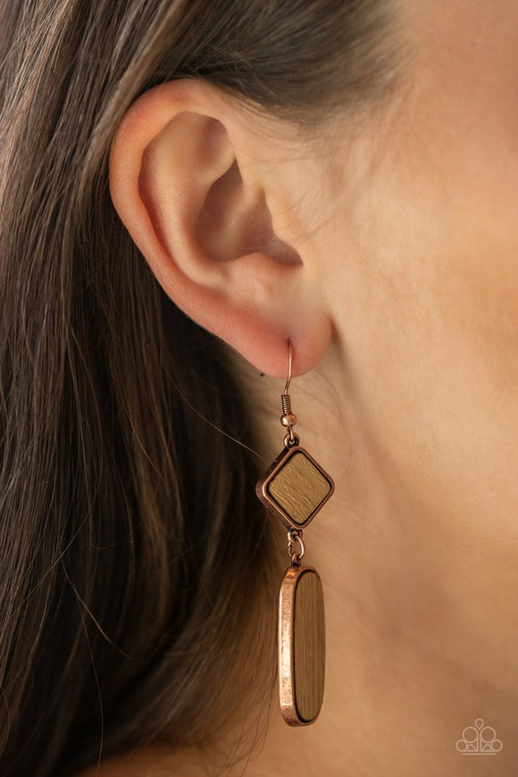 you-wood-be-so-lucky-copper-earrings-paparazzi-accessories