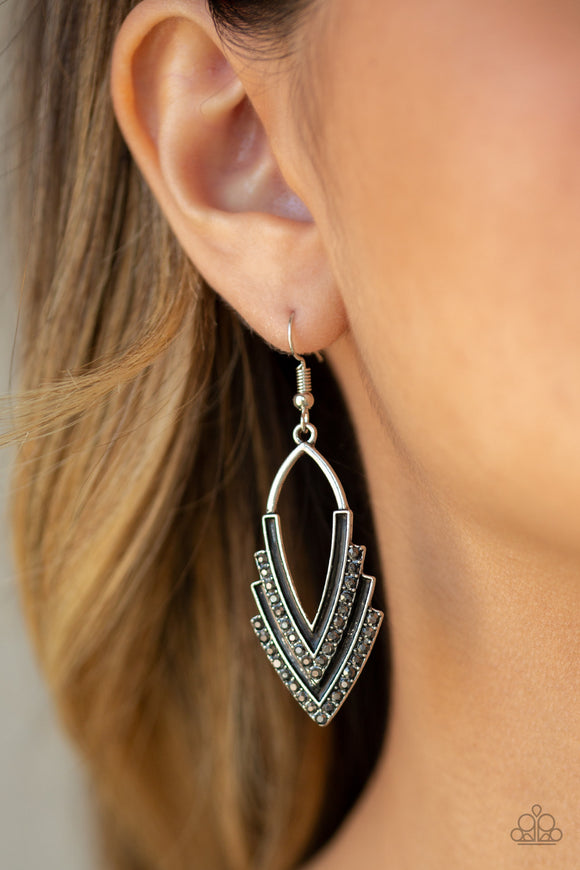 Tour de Force - Silver Earrings - Paparazzi Accessories