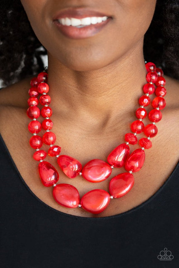 beach-glam-red-necklace-paparazzi-accessories