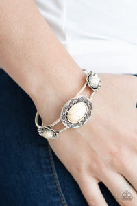 desert-eden-white-bracelet-paparazzi-accessories