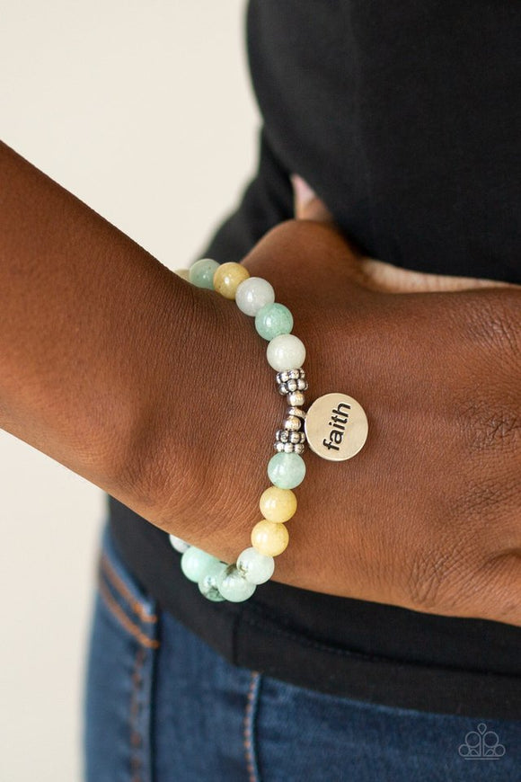 faith-it,-till-you-make-it-green-bracelet-paparazzi-accessories