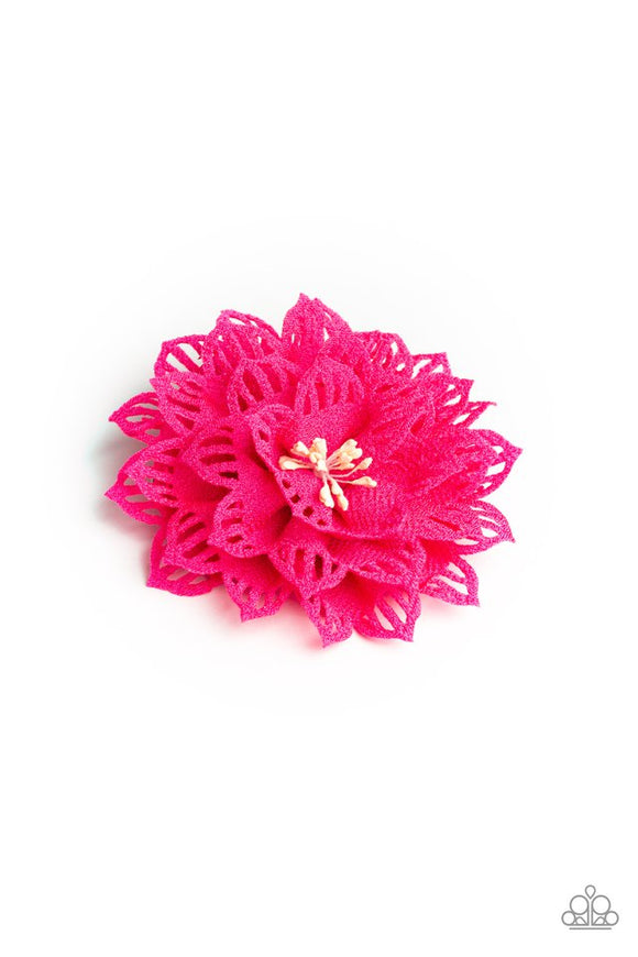 yes-i-tropicana-pink-hair-clip-paparazzi-accessories