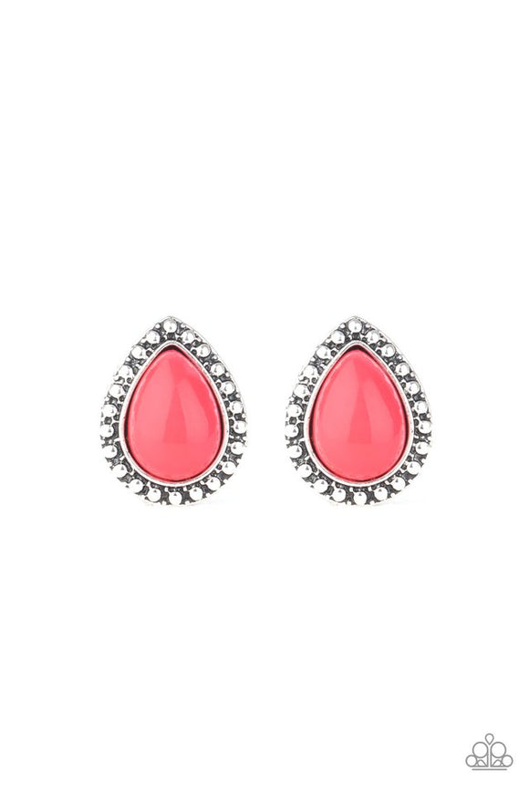 boldly-beaded-pink-earrings-paparazzi-accessories