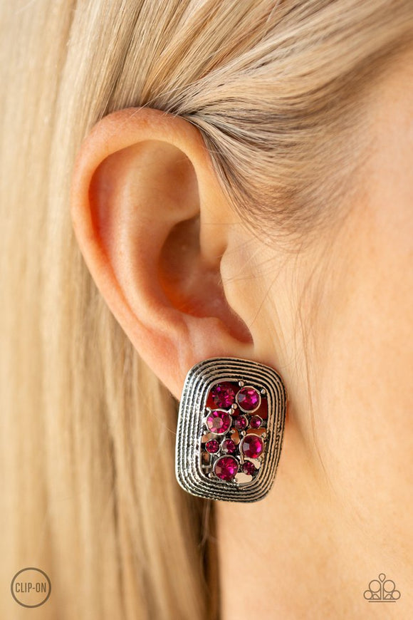 darling-dazzle-pink-earrings-paparazzi-accessories