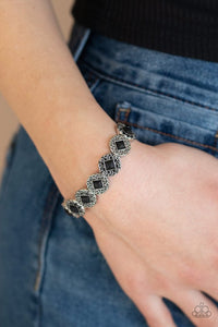 desert-dilemma-black-bracelet-paparazzi-accessories