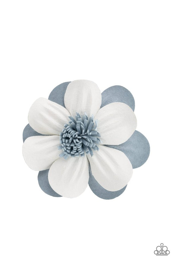 merry-magnolia-blue-hair-clip-paparazzi-accessories