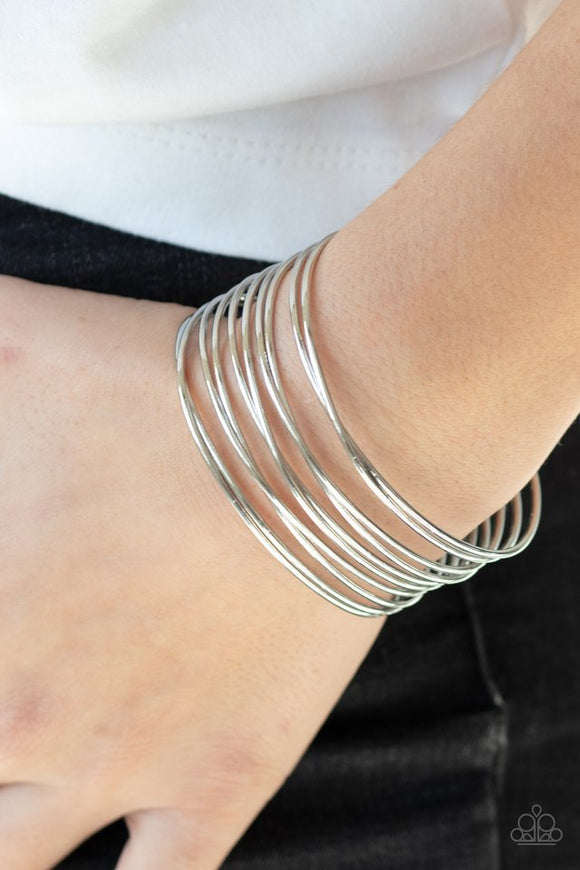 haute-wired-silver-bracelet-paparazzi-accessories