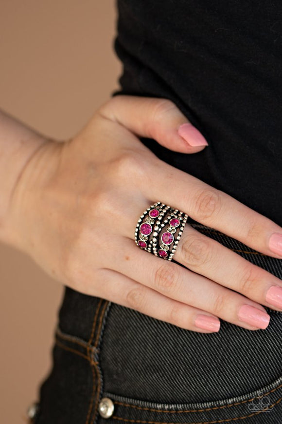 prismatic-powerhouse-pink-ring-paparazzi-accessories