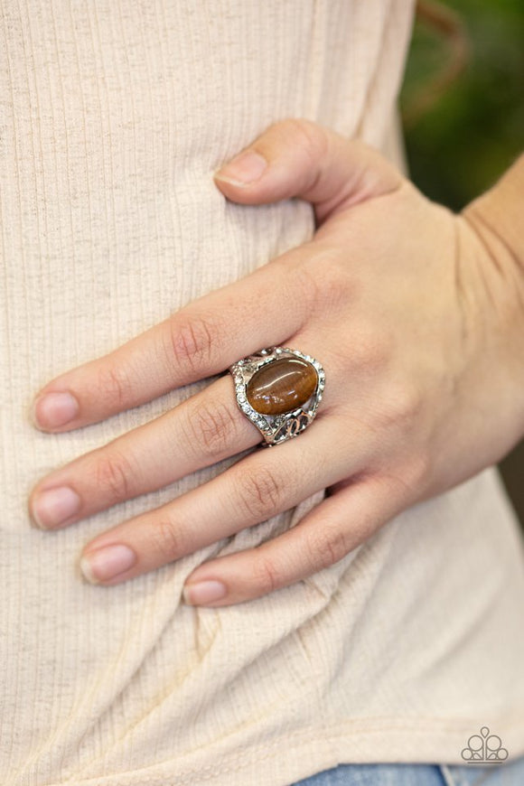 dew-onto-others-brown-ring-paparazzi-accessories