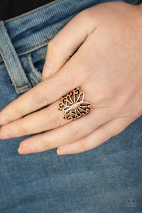 wouldnt-hurt-a-butterfly-copper-ring-paparazzi-accessories