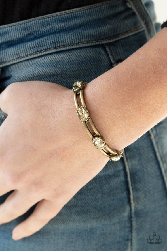 FLASH or Credit? - Brass Bracelet - Paparazzi Accessories