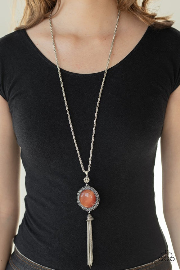 Serene Serendipity - Orange Necklace - Paparazzi Accessories