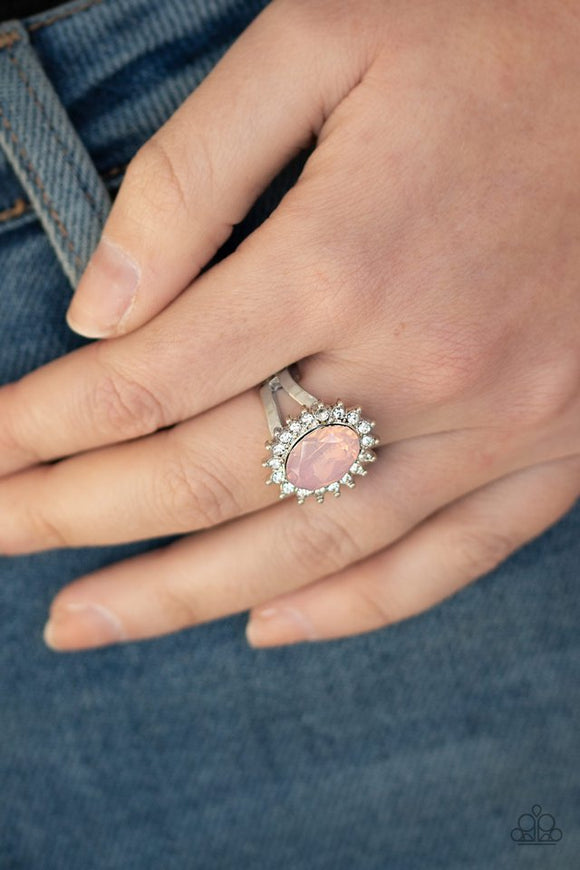 iridescently-illuminated-pink-ring-paparazzi-accessories