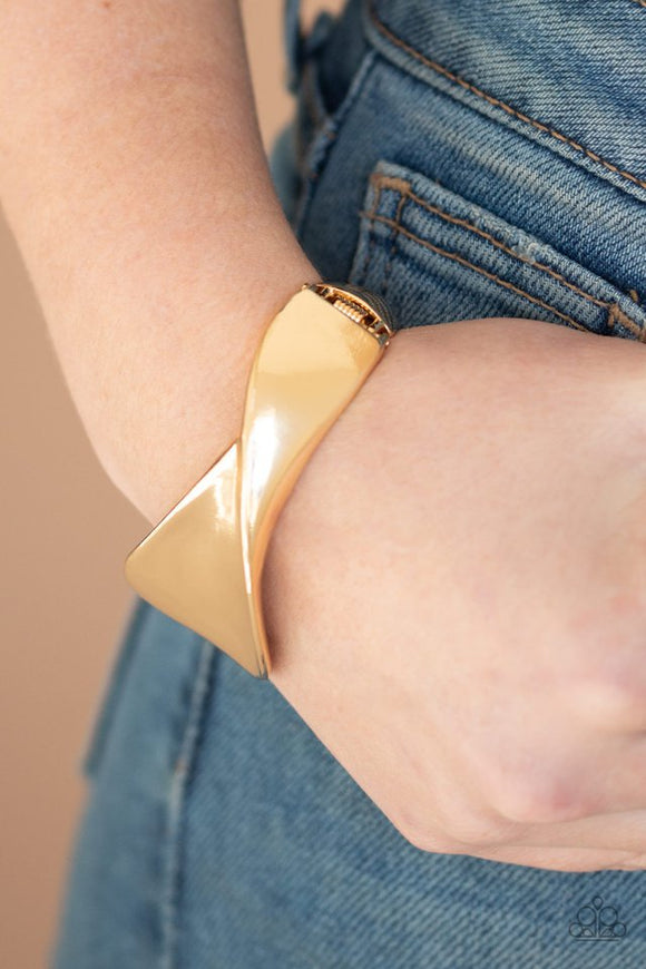Retro Reflections - Gold Bracelet - Paparazzi Accessories
