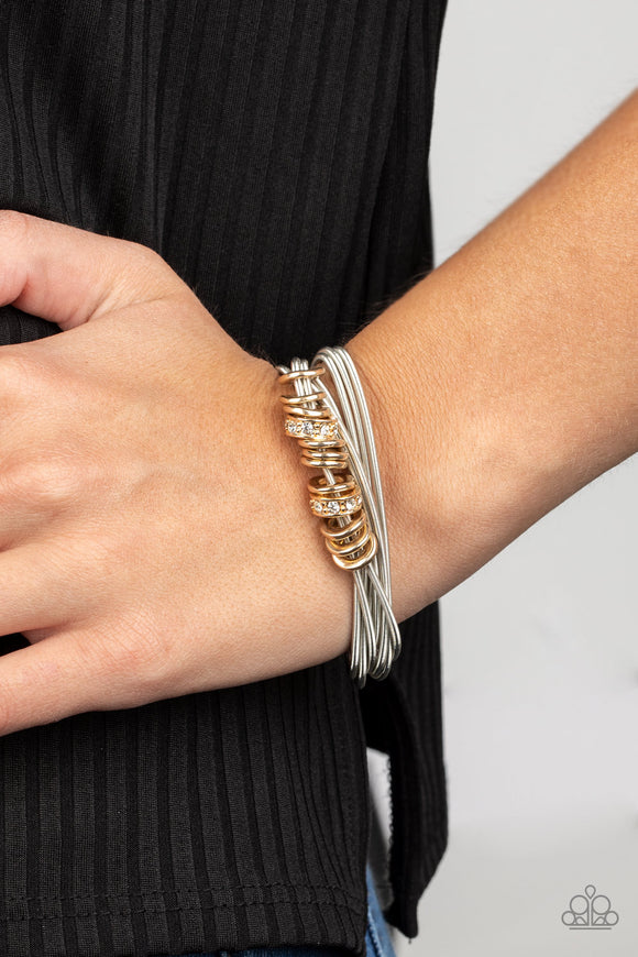 Magnetically Metro - Gold Bracelet - Paparazzi Accessories