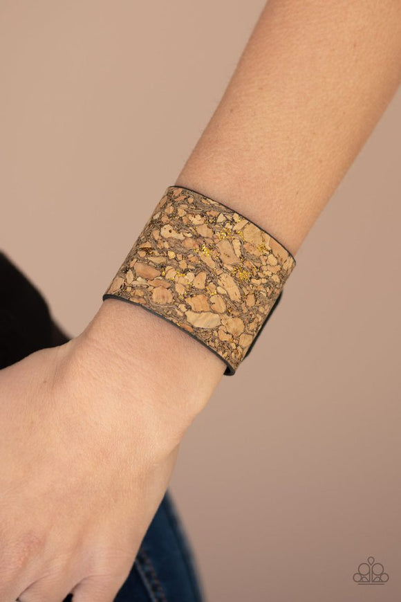 cork-congo-brass-bracelet-paparazzi-accessories