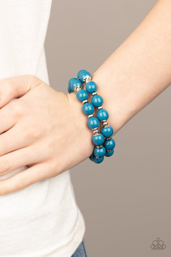 Bubble Blast Off - Blue Bracelet - Paparazzi Accessories