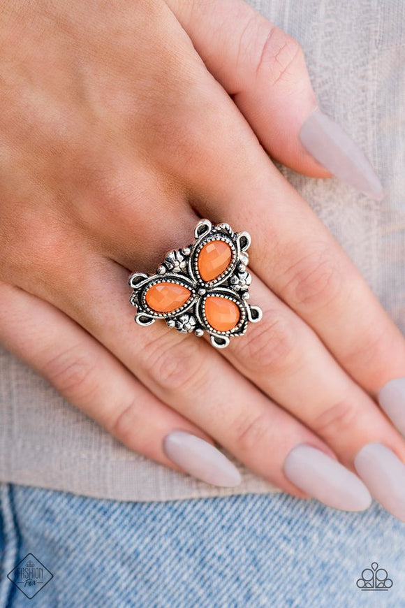 ambrosial-garden-orange-ring-paparazzi-accessories