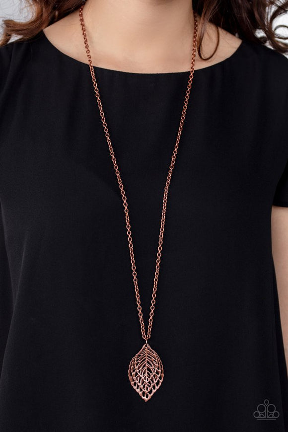 just-be-leaf-copper-necklace-paparazzi-accessories