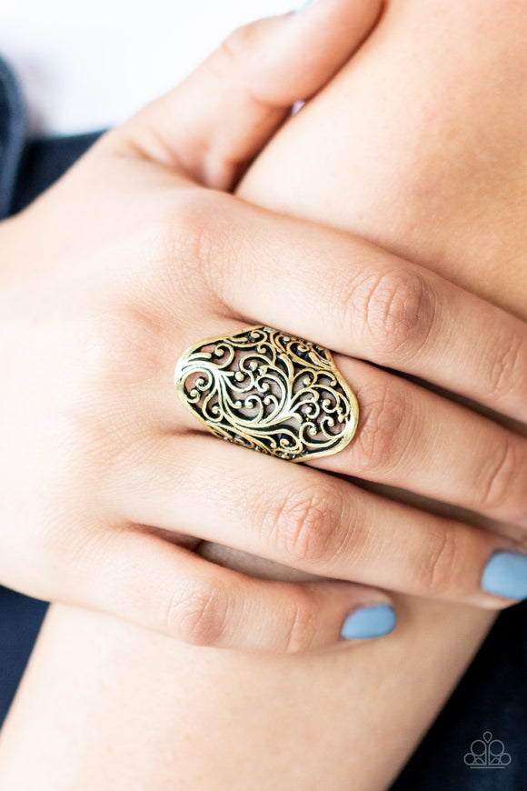 The Vibe Ring in brass