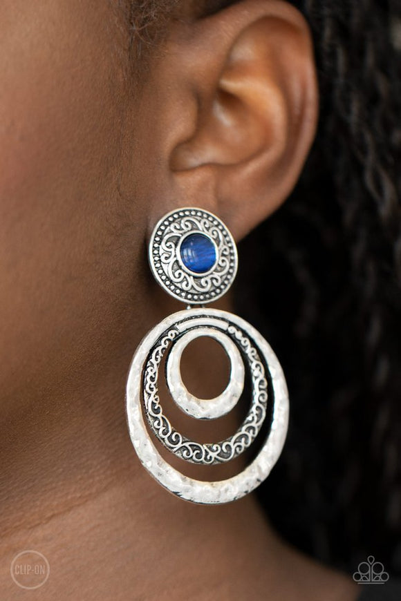 bare-your-soul-blue-clip-on-earrings-paparazzi-accessories