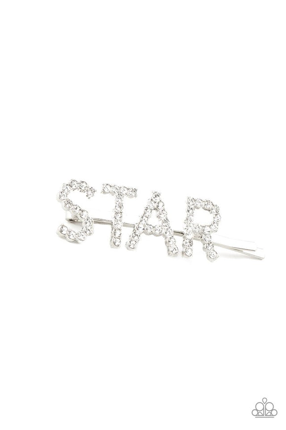 star-in-your-own-show-white-hair-clip-paparazzi-accessories