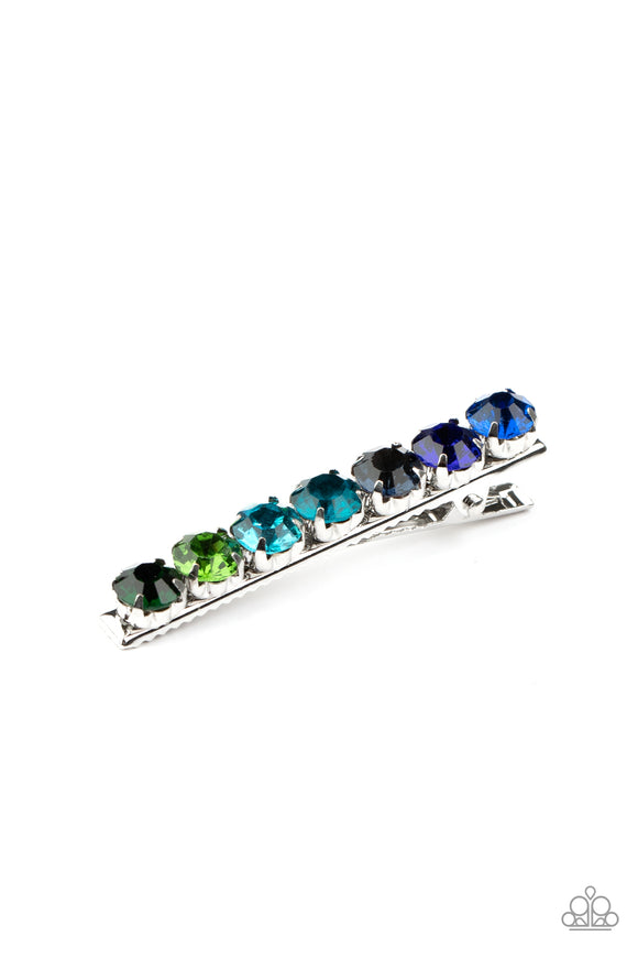 Bedazzling Beauty - Multi Hair Clip - Paparazzi Accessories