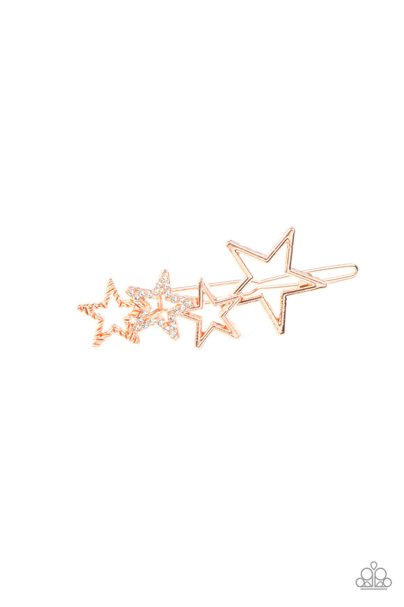 From STAR To Finish - Copper Hair Clip - Paparazzi Accessories