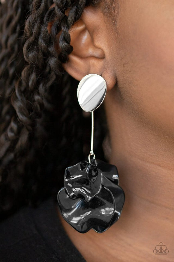 petal-pathways-black-post-earrings-paparazzi-accessories