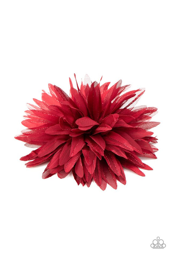 bloom-baby,-bloom-red-hair-clip-paparazzi-accessories