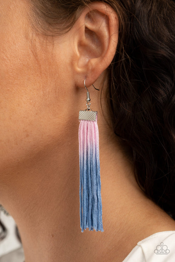 Dual Immersion - Pink Earrings - Paparazzi Accessories