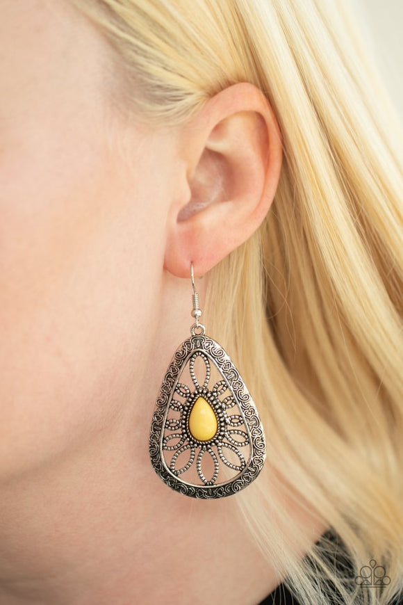 floral-frill-yellow-earrings-paparazzi-accessories