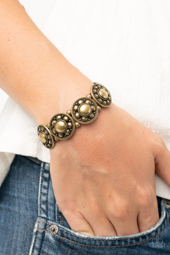 Rural Fields - Brass Bracelet - Paparazzi Accessories