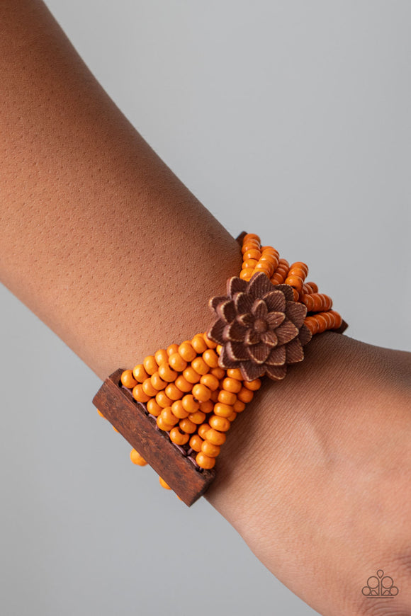 Tropical Sanctuary - Orange Bracelet - Paparazzi Accessories